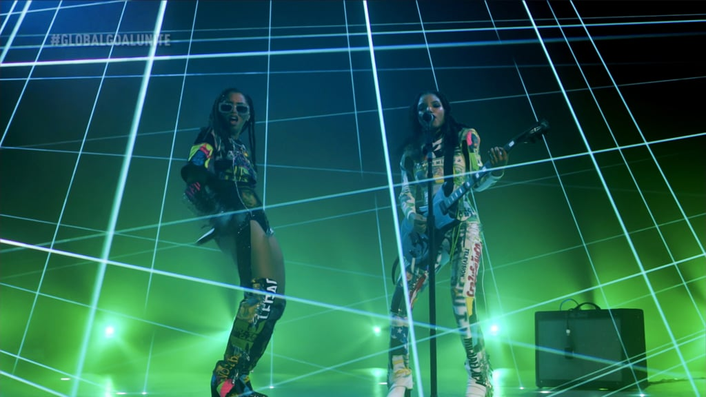 Chloe x Halle Wearing Delia Alleyne For the Global Goal: Unite For Our Future Event