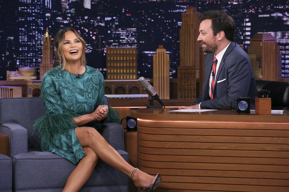 Chrissy Teigen's Green Dress on The Tonight Show 2019