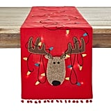 LED Light-Up Reindeer Table Runner