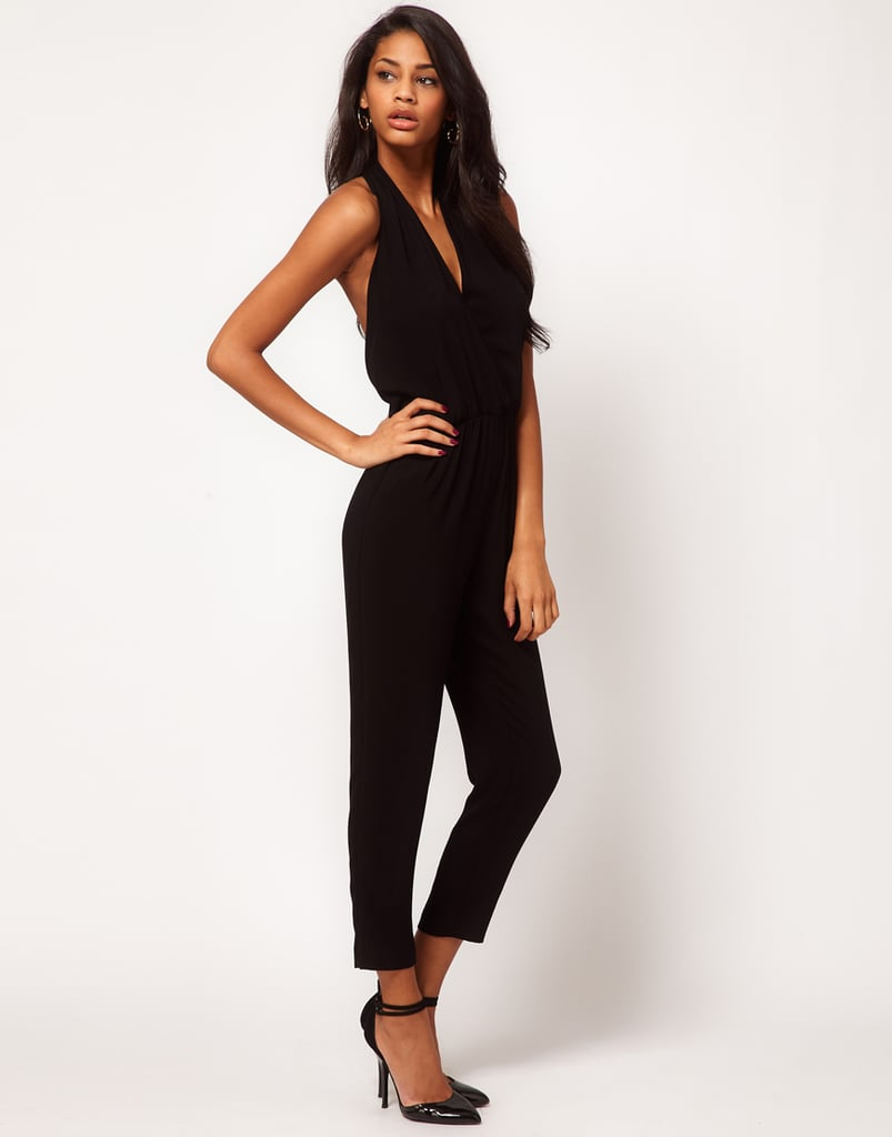 ASOS's Sexy Halter Jumpsuit ($78) is just that. Accessorize with a bold pair of pumps and a great cocktail ring.
