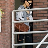 Katie Holmes wore sweats for her latest gym visit.