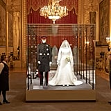 Meghan and Harry's Outfits at the Royal Wedding Exhibition at Windsor Castle