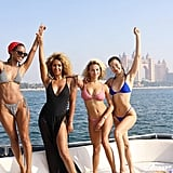 Bella Hadid in a Colbat Blue Bikini