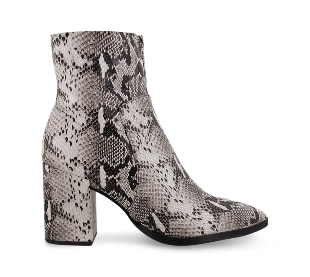 Tony Bianco Brazen Natural Snake Ankle Boots