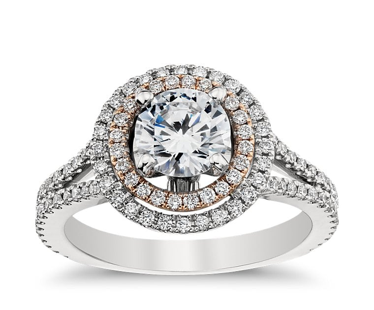 Monique Lhuillier Double Halo Engagement Ring ($3,000 for setting)
