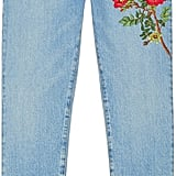 The flowers are front and center on this pair of Gucci denim pants ($750).