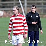 Prince William played soccer in Norfolk, England, over the holiday.