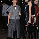 Lara Bingle and Nicole Trunfio at Dion Lee's 2014 Autumn Winter New York Fashion Week Show