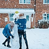 Play in the snow. Make snow angels and snowmen. Start a snowball fight, and slide down a hill on a sled.