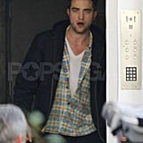 Robert Pattinson was at his London home.