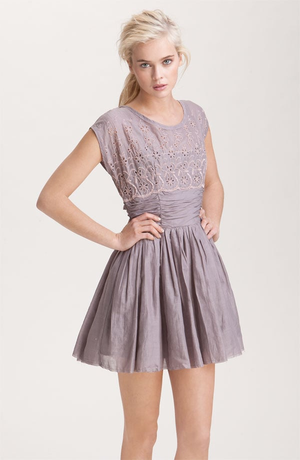 The pretty lavender hue of this eyelet dress makes it that much more special.  Free People Rose Garden Cotton Sateen Eyelet Dress ($138)