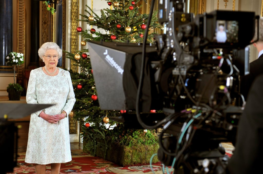 Queen elizabeth ii recorded her christmas message to the