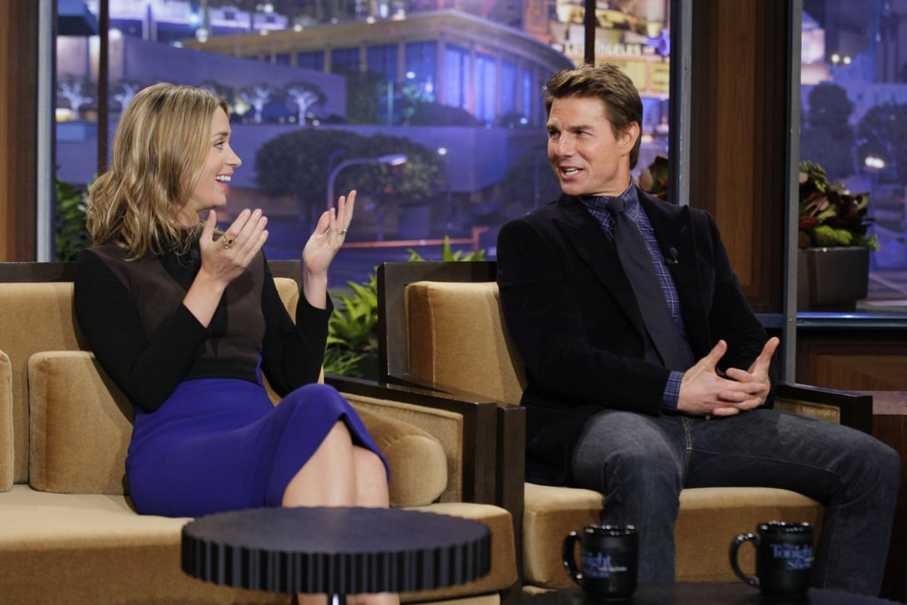 Emily Blunt and Tom Cruise chatted with Jay Leno.