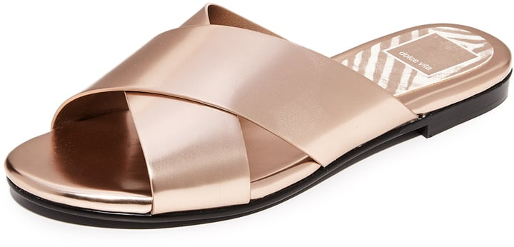 Slip on these Dolce Vita Karlo Metallic Slide Sandals ($80) and you're ready to go!