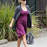 Reese Witherspoon was ready for Spring in a cute purple dress.