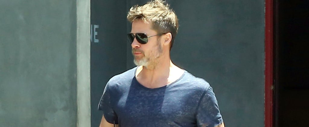 Brad Pitt Makes Iced Coffee Look Pretty Damn Hot