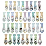 "Baby Milestone ""First Year"" Necktie Stickers"