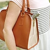 Retro Tan Teardrop Insulated Cooler Lunch Handbag