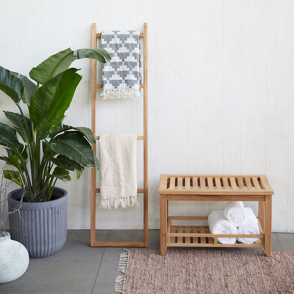 Teak Towel Rack Best Outdoor Organization And Storage