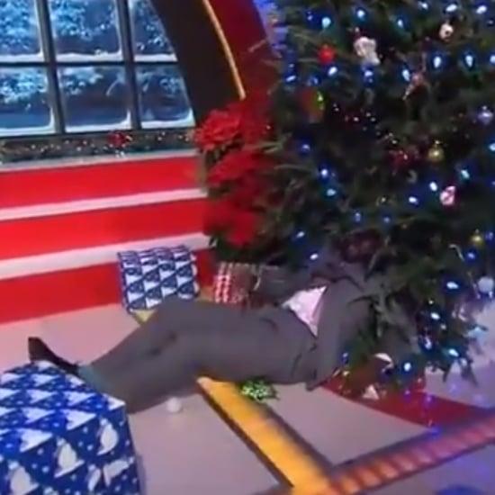 Shaq Getting Shoved Into a Christmas Tree | Video