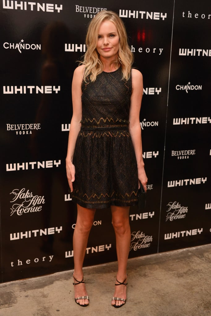 Kate Bosworth looked glamorous in a black Theyskens' Theory dress for the Whitney Art Party in NYC.