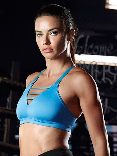 """""""All of these Victoria's Secret sport bras are made from material to keep you cool, but they offer tons of different styles which are super cute — I love the Strappy Sports Bras."""" Adriana recommends: Victoria Sport Strappy Plunge Sport Bra ($10)"""