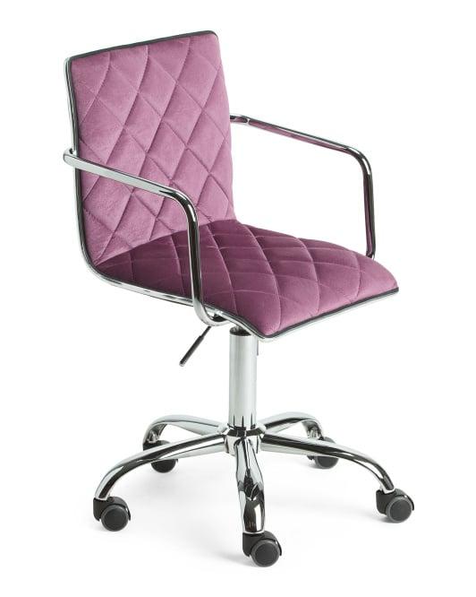 Phoebe Velvet Office Chair