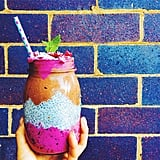There's no need to pack your chia seed pudding with refined sugars; use fruits like bananas to sweeten your snack naturally. Source: Instagram user funkyforestfood