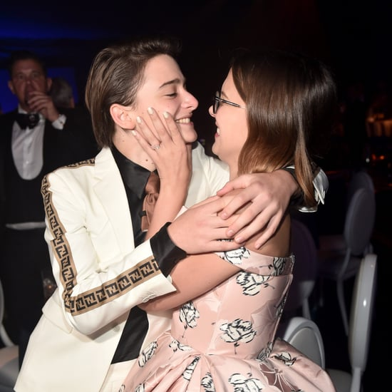 Millie Bobby Brown and Noah Schnapp at the 2018 Emmys