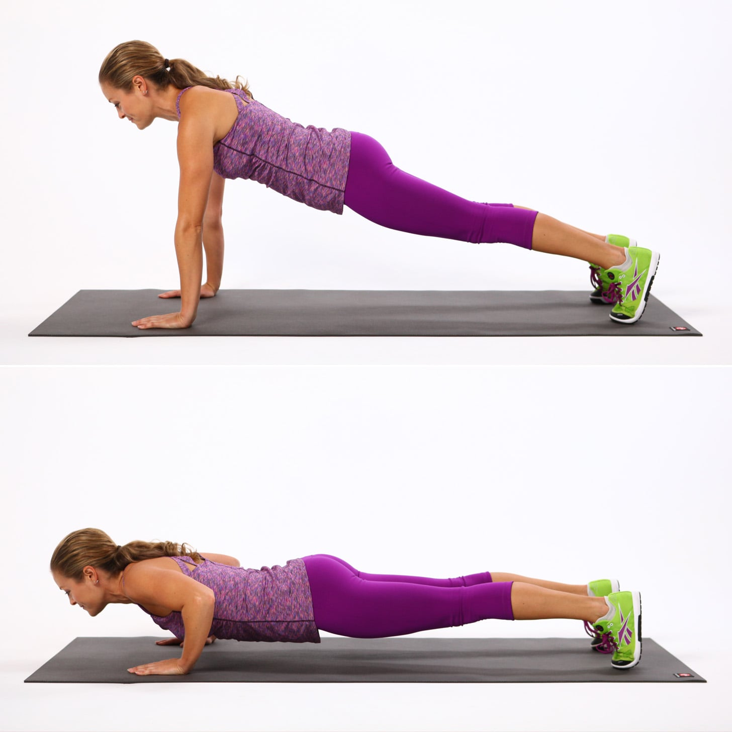 Basic Push-Up | Sculpt Arms Faster With These 8 Push-Up Variations ...