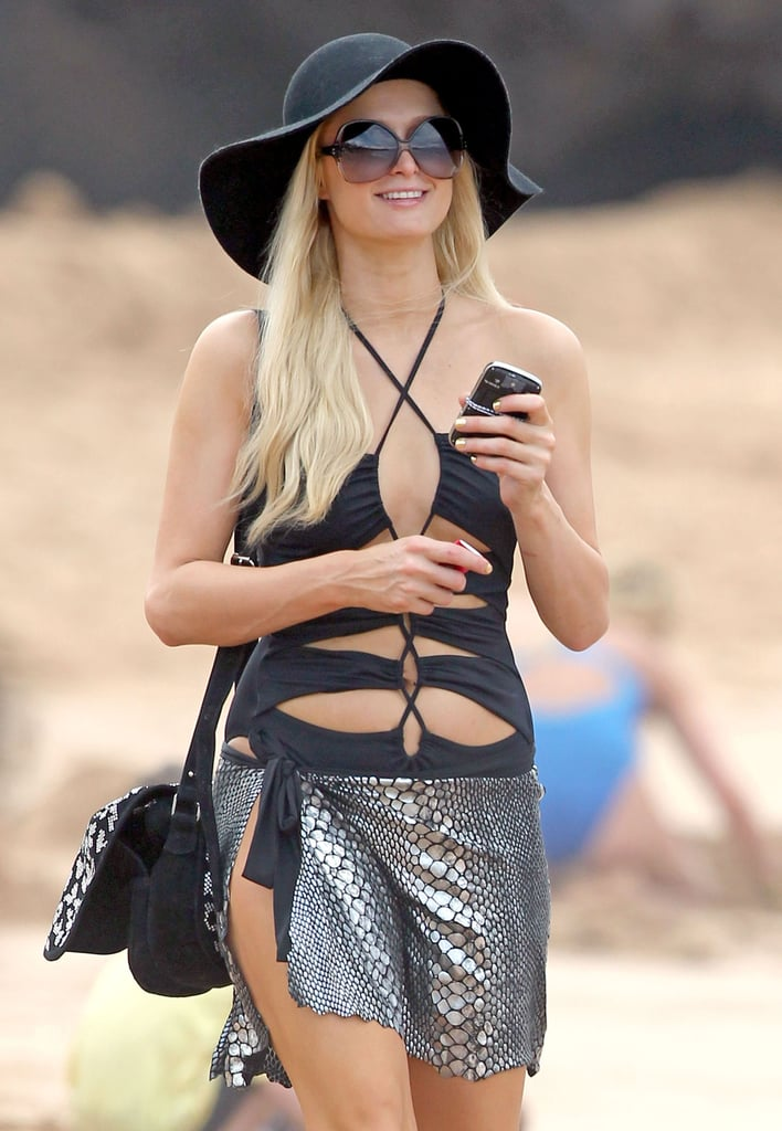Paris Hilton Swimsuit Pictures in Hawaii With Boyfriend Cy Waits