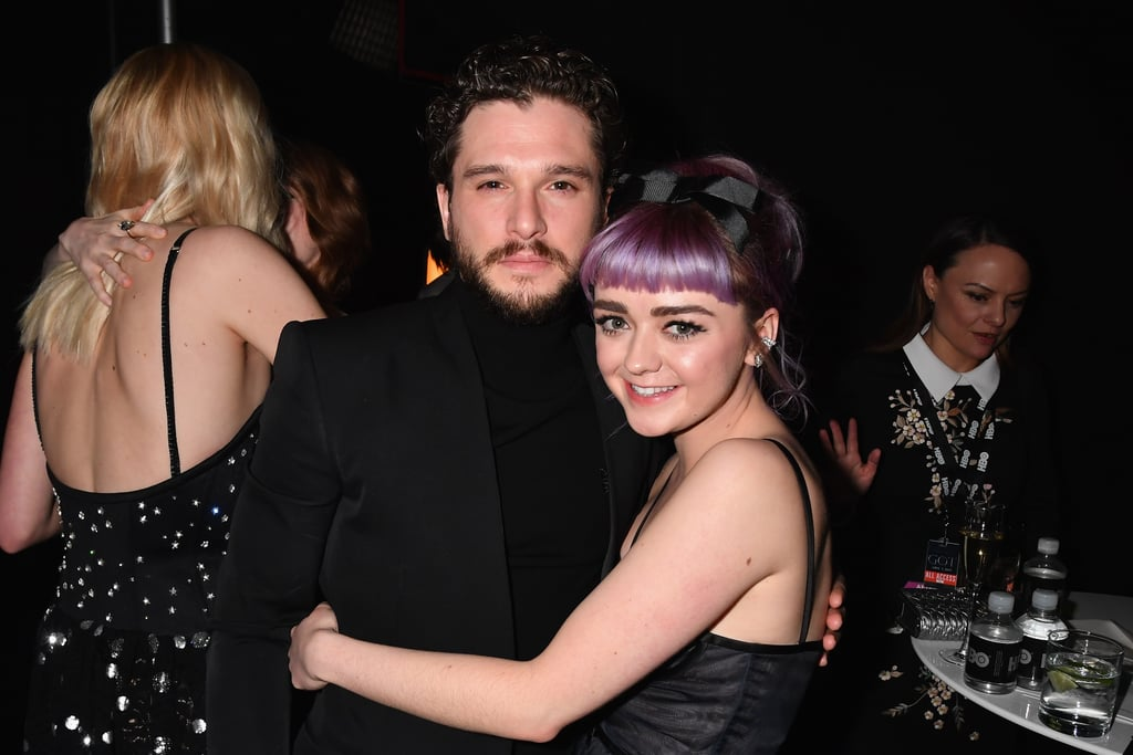 Maisie Williams With Purple Hair April 2019