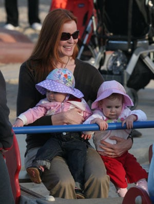 Marcia Cross and Twins at the Park