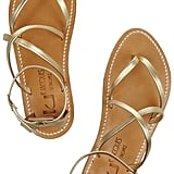 These K Jacques St. Tropez Epicure Metallic Leather Sandals ($280) are great for everything from daytime jaunts to wearing at night with a maxi dress.