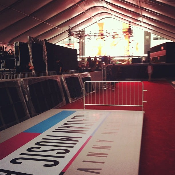 Our own FabSugar host Allison McNamara captured a snap before all the finishing touches were put on the red carpet. Source: Instagram user allisonmcnamara