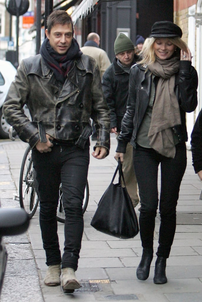 Kate Moss and her husband Jamie Hince stopped by the Honeyjam toy shop in London on Friday. The two were spotted browsing the store and picking up some items, perhaps gifts for Kate's daughter, Lila Grace. Saturday the couple spent their afternoon shopping at Portobello Market. Kate herself may be the star of more than a few Christmas presents this year —her new book, Kate: The Kate Moss Book, is among our top 100 gift guide picks for this year! Kate and Jamie have also been enjoying the party circuit recently, promoting her book and celebrating with friends, and there will only be more of that as we get closer to the holidays.