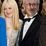 Dakota Fanning and Steven Spielberg joined other celebrities at the White House Correspondant's Dinner.