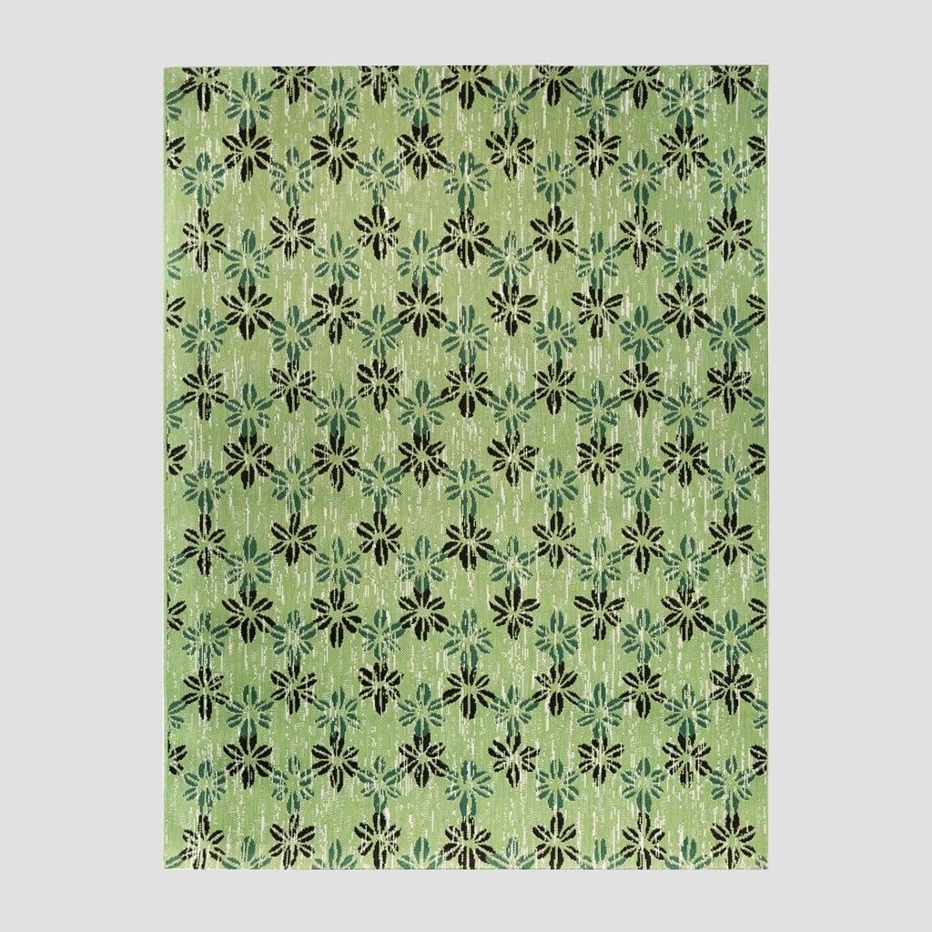 Floral Stamp Outdoor Rug