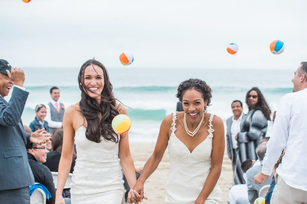Lindsey and Lakin chose Salt Creek Beach in California for their wedding ceremony and reception because it was the perfect casual outdoor environment they were looking for. See the wedding here!