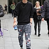 Timothée's BBC Radio appearance proved that even his sweatpants are stylish.