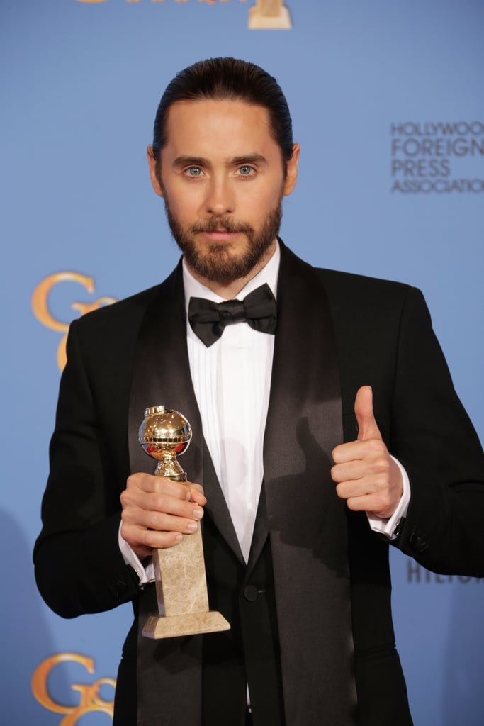 Jared Leto gave his win a thumbs-up.