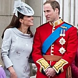 Pictured: Kate Middleton and Prince William.