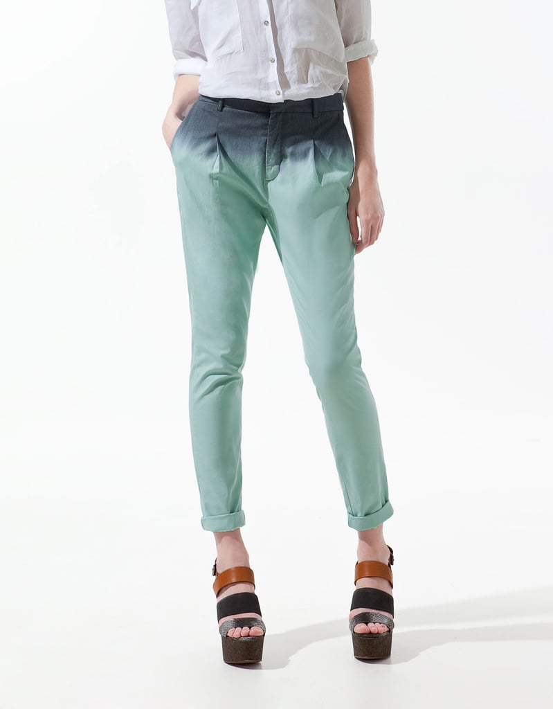 These tie-dye pants are a cute option for a casual weekend look.  Zara Tie-Dye Trousers ($50)