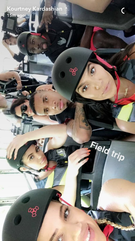 The Kardashian-Jenner clan fled the country's cold Winter temperatures when they touched down in Costa Rica this week. Not only did Kylie and Kourtney put their enviable bikini bodies on display on Instagram, but Kim shared Snapchat videos of her kids, North and Saint West, and her workout session with Khloé. It's been reported that Kanye West did not join them as he's busy working on new music in LA, but Scott Disick, Tyga, and Corey Gamble did tag along. Their trip is being shot for Keeping Up With the Kardashians, which recently resumed filming after taking a break following Kim's Paris robbery.       Related:                                                                                                           Warning: You're Not Ready For These Adorable Snaps of Kim Kardashian and Kanye West's Kids