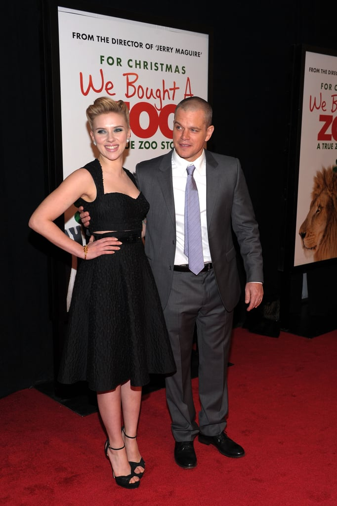 Scarlett Johansson and Matt Damon were in NYC to promote their new film.