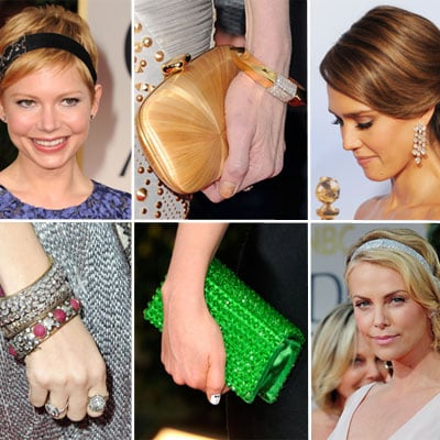 The Full Rundown On All The Golden Globes Accessories - From Earrings to Clutches to Headbands!