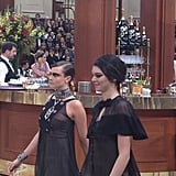 Then They Paraded Into the Chanel Cafe Side by Side