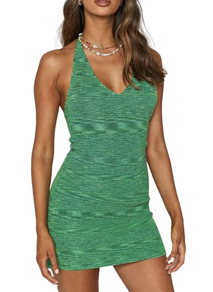 Babamoon Halterneck Bodycon Dress