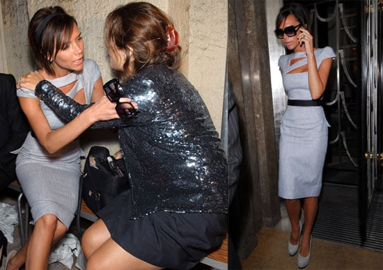 Photos of Victoria Beckham and Alexandra Shulman During Fashion East at London Fashion Week