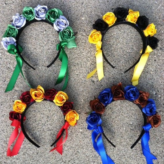 Hogwarts House Flower Crown Headband ($15)